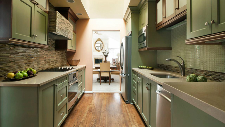 Decorate a galley kitchen