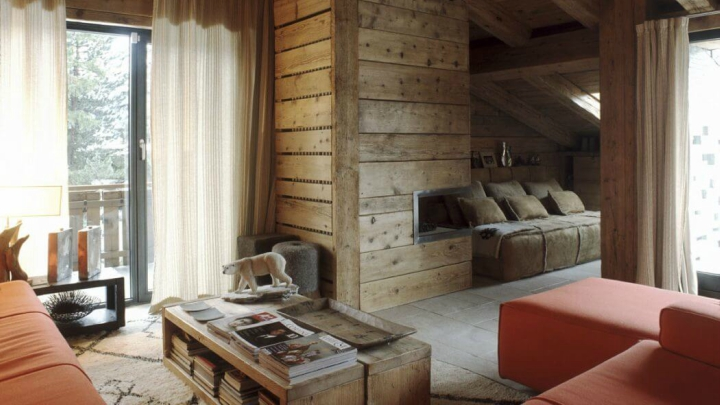rustic style mountain apartment