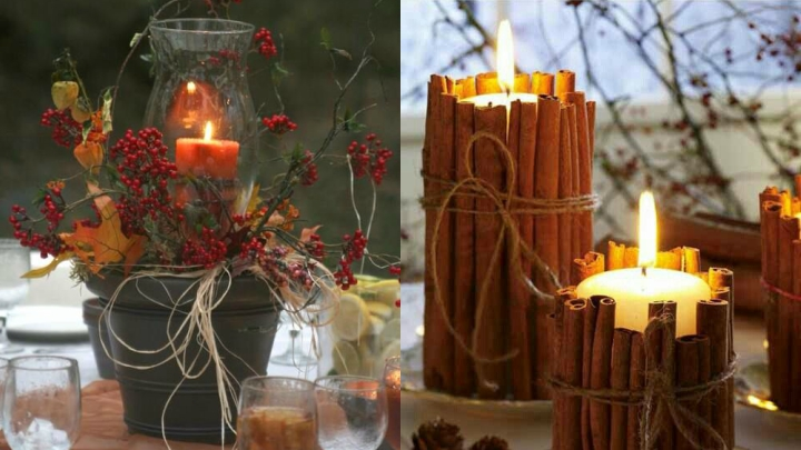 cozy autumn decoration