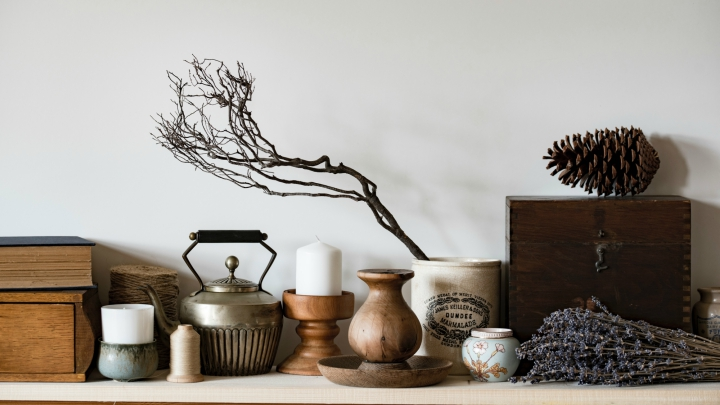 cozy autumn decoration