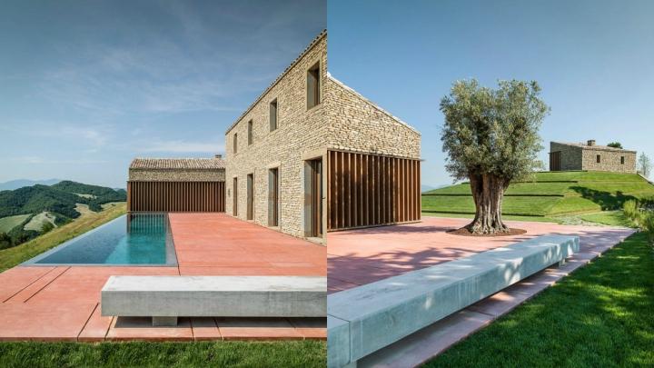 Stone and wood house in Urbino