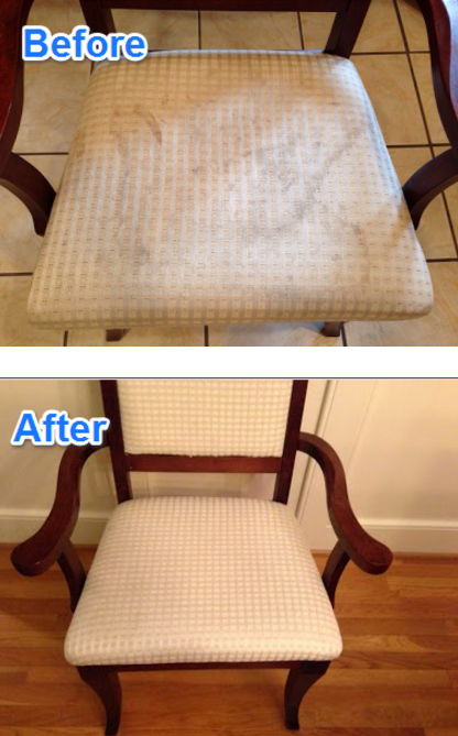 how to clean dining chair cushions